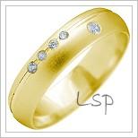 Snubní prsteny LSP 2178 žluté zlato