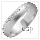 Snubní prsteny LSP 2178b bílé zlato