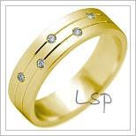 Snubní prsteny LSP 2180 žluté zlato
