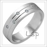 Snubní prsteny LSP 2180b bílé zlato