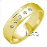 Snubní prsteny LSP 2182 žluté zlato
