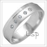Snubní prsteny LSP 2182b bílé zlato