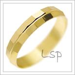 Snubní prsteny LSP 2183 žluté zlato