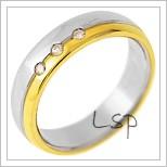 Snubní prsteny LSP 2184 - kombinované zlato