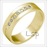 Snubní prsteny LSP 2185 žluté zlato