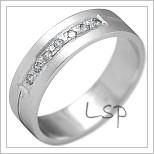 Snubní prsteny LSP 2185b bílé zlato