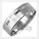 Snubní prsteny LSP 2187b bílé zlato