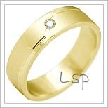 Snubní prsteny LSP 2188 žluté zlato