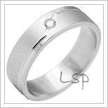 Snubní prsteny LSP 2188b bílé zlato