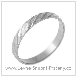 Snubní prsteny LSP 2192 - bílé zlato