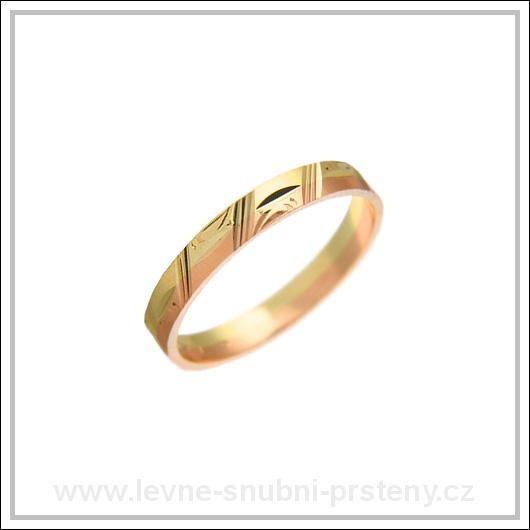 Snubní prsteny LSP 2193 kombinované zlato