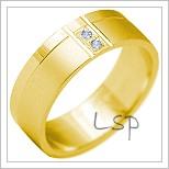Snubní prsteny LSP 2195 žluté zlato