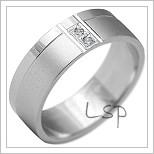 Snubní prsteny LSP 2195b bílé zlato