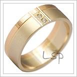 Snubní prsteny LSP 2195k kombinované zlato