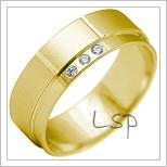 Snubní prsteny LSP 2199 žluté zlato