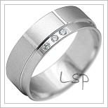 Snubní prsteny LSP 2199b bílé zlato