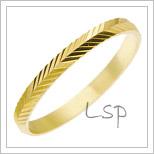 Snubní prsteny LSP 2200 žluté zlato