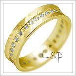 Snubní prsteny LSP 2203 žluté zlato