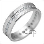 Snubní prsteny LSP 2203b bílé zlato