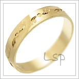 Snubní prsteny LSP 2207 žluté zlato