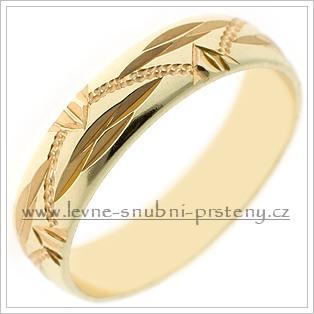 Snubní prsteny LSP 2208 žluté zlato