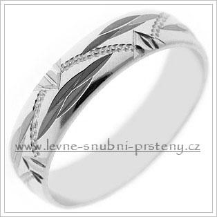 Snubní prsteny LSP 2208b bílé zlato