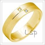 Snubní prsteny LSP 2209 žluté zlato