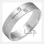 Snubní prsteny LSP 2209b bílé zlato