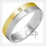 Snubní prsteny LSP 2209k kombinované zlato
