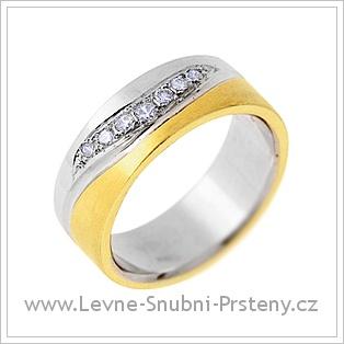Snubní prsteny LSP 2210 - kombinované zlato