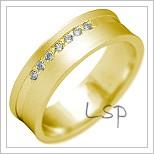 Snubní prsteny LSP 2212 žluté zlato