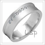 Snubní prsteny LSP 2212b bílé zlato