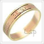 Snubní prsteny LSP 2213 kombinované zlato
