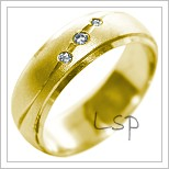 Snubní prsteny LSP 2215 žluté zlato