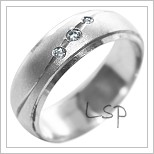 Snubní prsteny LSP 2215b bílé zlato
