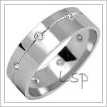 Snubní prsteny LSP 2216b bílé zlato