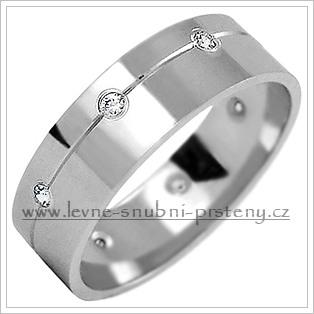 Snubní prsteny LSP 2216bz bílé zlato