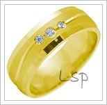 Snubní prsteny LSP 2219 žluté zlato