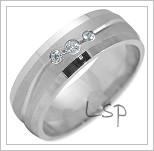 Snubní prsteny LSP 2219b bílé zlato