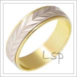 Snubní prsteny LSP 2221 kombinované zlato