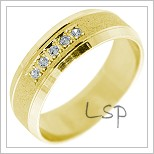 Snubní prsteny LSP 2228 žluté zlato