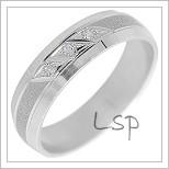 Snubní prsteny LSP 2230b bílé zlato