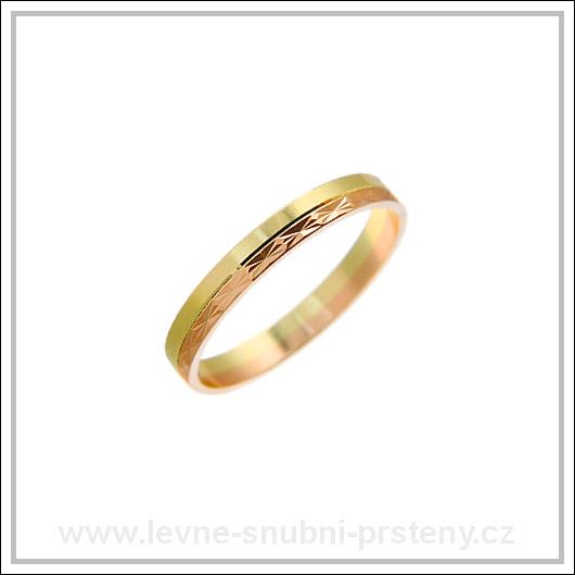 Snubní prsteny LSP 2231 kombinované zlato