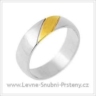 Snubní prsteny LSP 2232 - kombinované zlato