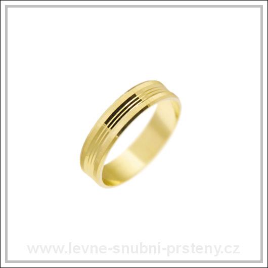 Snubní prsteny LSP 2238 žluté zlato