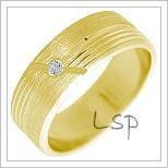 Snubní prsteny LSP 2239 žluté zlato