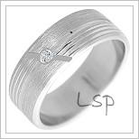 Snubní prsteny LSP 2239b bílé zlato