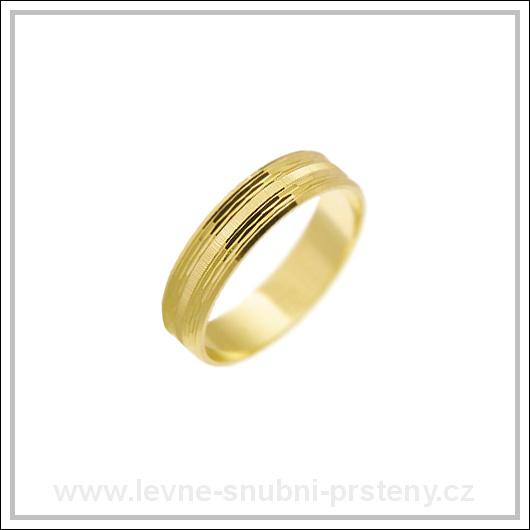 Snubní prsteny LSP 2241 žluté zlato