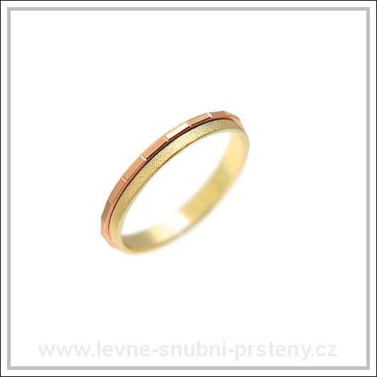 Snubní prsteny LSP 2242 kombinované zlato