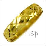 Snubní prsteny LSP 2244 žluté zlato